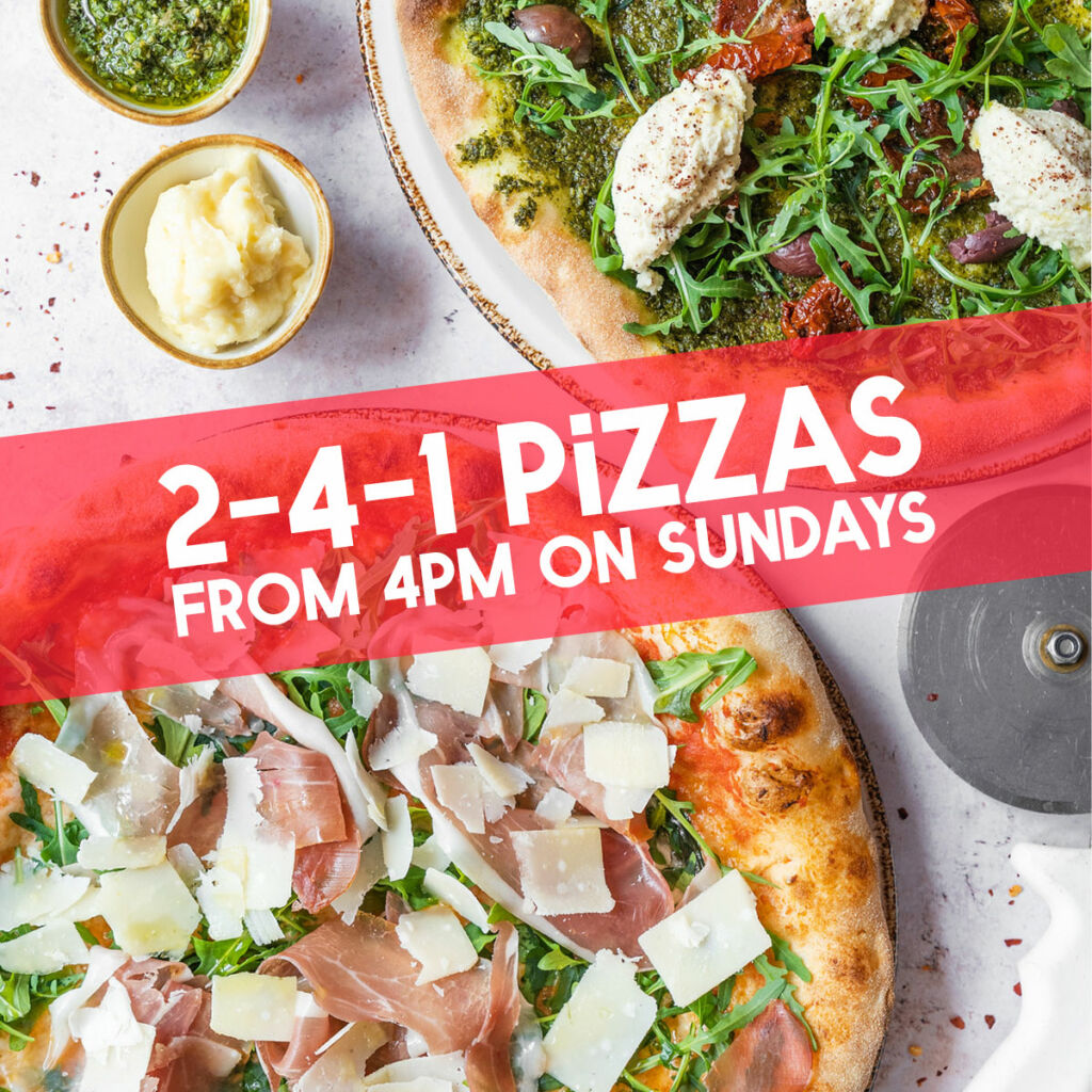 Pizza deal in Bristol 2 for 1 pizzas from 4pm on Sundays