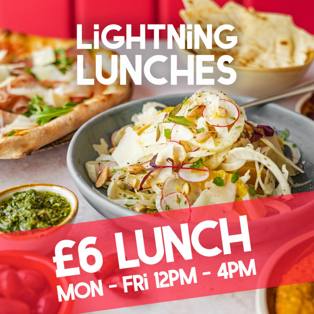 Pizza deal in Bristol £6 lunch Monday to Friday 12 until 4 pizzas salads and mains